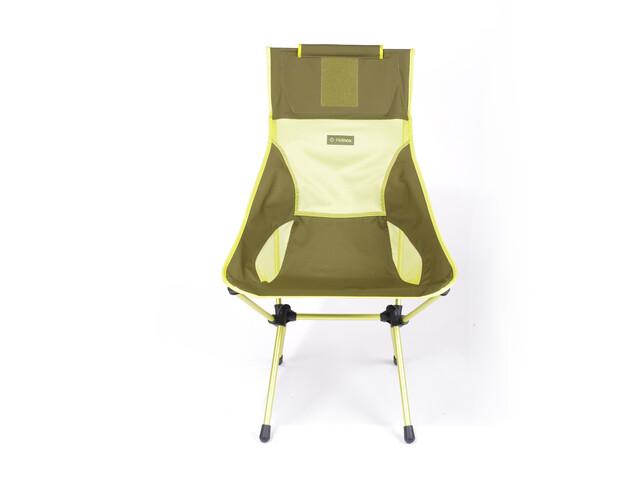 Helinox Sunset Chaise, green block/melon